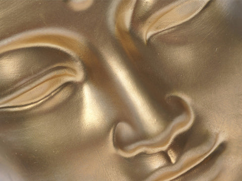 Golden Buddha Face Wall Mural