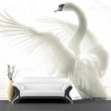 Load image into Gallery viewer, Graceful Swan Wall Mural