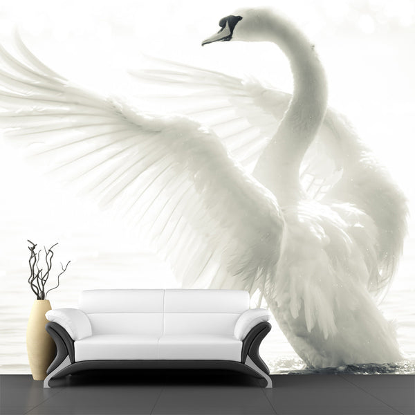 Graceful Swan Wall Mural