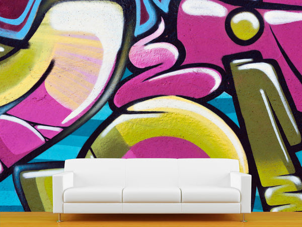 Graffiti Background 2 Wall Mural