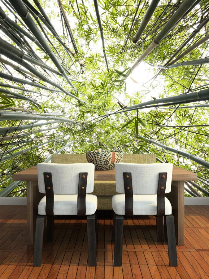 Forest Wall Art green bamboo forest wall mural – majestic wall art