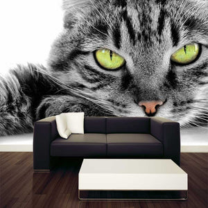 Green-eyed Cat Wall Mural