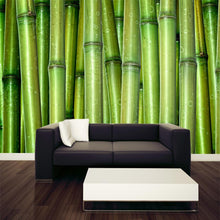 Load image into Gallery viewer, Green Bamboo Wall Mural