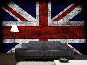 Grunge Britain Flag  Wall Mural