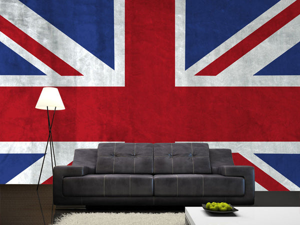 Grunge UK Flag Wall Mural