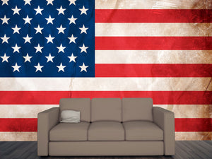 Grunge USA flag Wall Mural