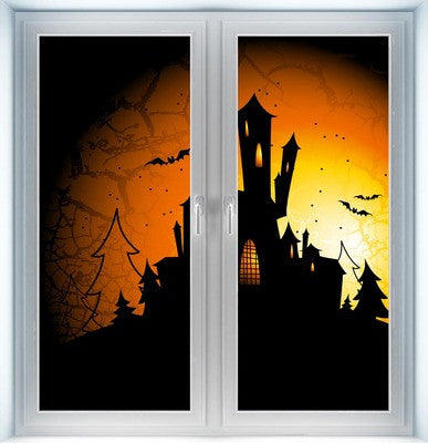 Halloween Castle Instant Window