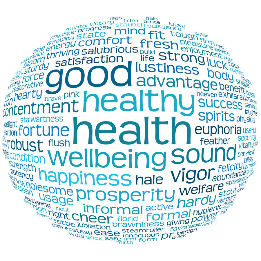 Health and Well Being Word Cloud Wall Mural