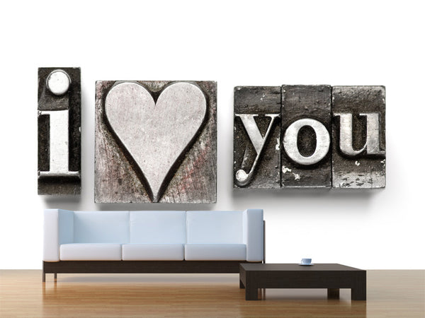 I Love You Wall Mural