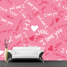 Load image into Gallery viewer, I Love You Pattern Wall Mural