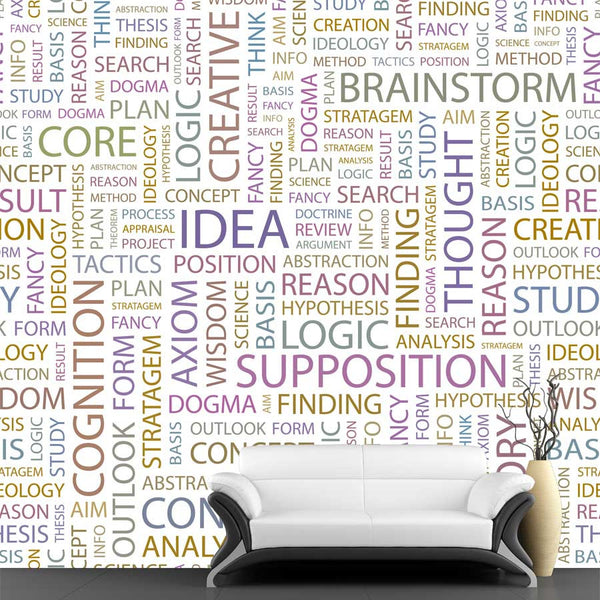 Idea Pattern Wall Mural