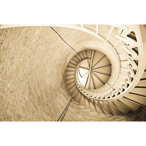 Interior Steps of a Lighthouse Wall Mural