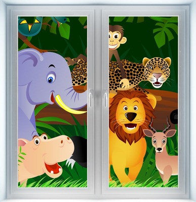 Jungle Animal Instant Window