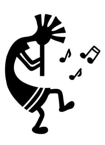 Kokopelli Music 2 Wall Decal