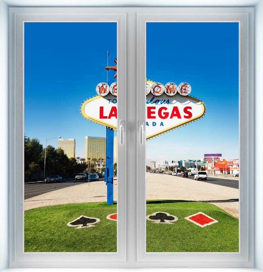 Las Vegas Welcome Sign Instant Window