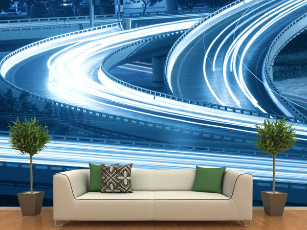Lights Trail Wall Murals