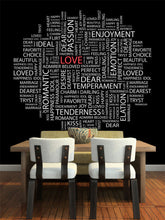 Load image into Gallery viewer, Love with Word Cloud Wall Mural