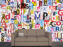 Load image into Gallery viewer, Magazine Letters Collage Wall Mural
