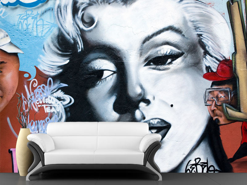 ... Marilyn Monroe Graffiti Wall Mural ...