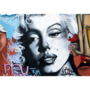 Marilyn Monroe Graffiti Wall Mural