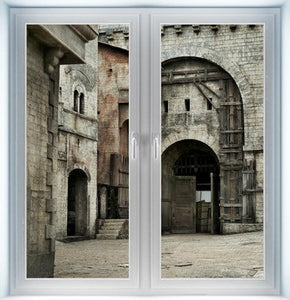 Medieval Castle Entrance Instant Window