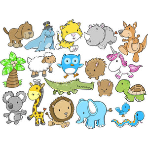 More Cute Animal Wall Murals