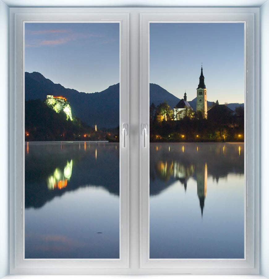 Morning at Lake Bled Instant Window
