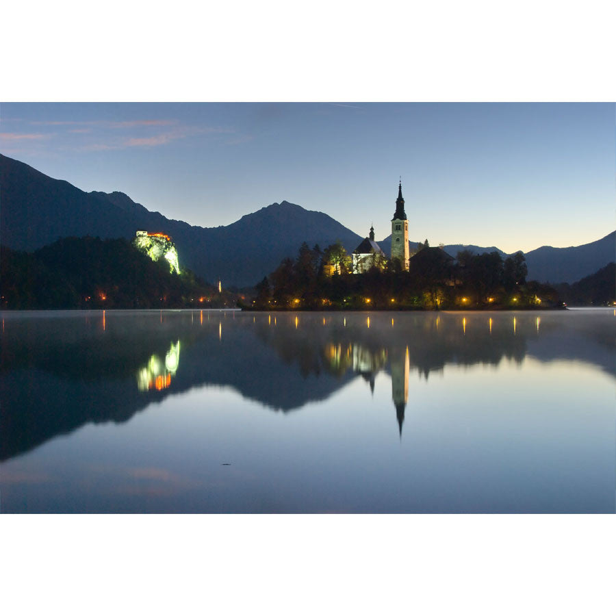 Morning at Lake Bled Wall Mural