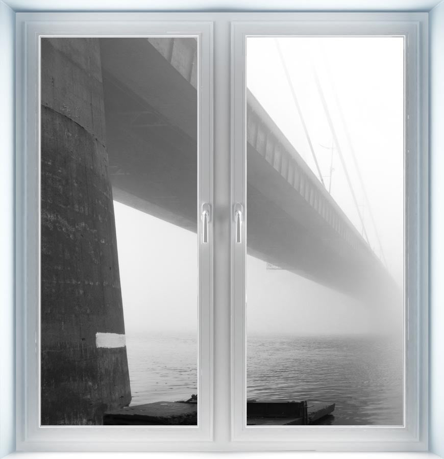 Moscow Bridge in Fog Instant Window