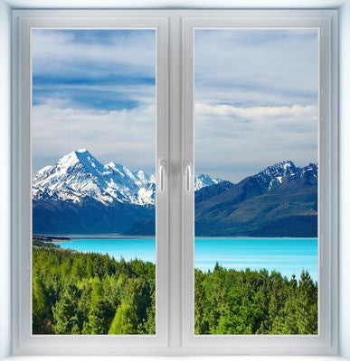 Mount Cook New Zealand Closed Instant Window