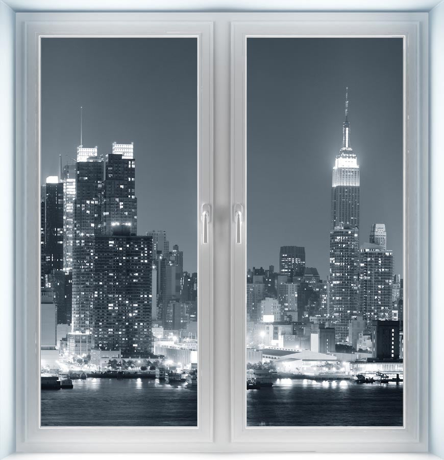 New York City Midtown Skyline Instant Window