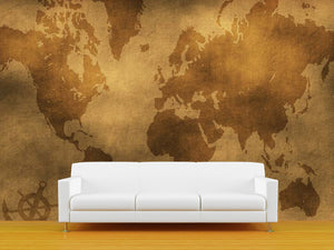 Old Map Illustration Wall Mural