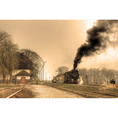 Old Retro Steam Train Wall Mural