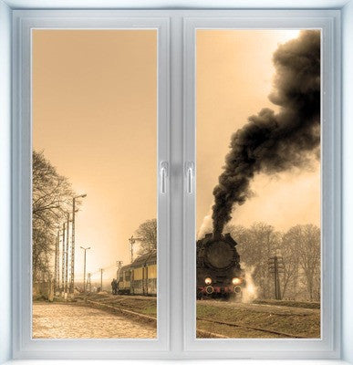 Old Steam Train Closed Instant Window