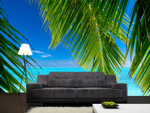 Palm Tree Leaves Wall Mural