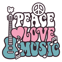Load image into Gallery viewer, Peace Love Music Wall Mural