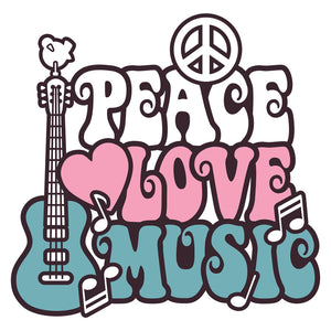 Peace Love Music Wall Mural