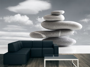 Pile of Five Stones Wall Mural