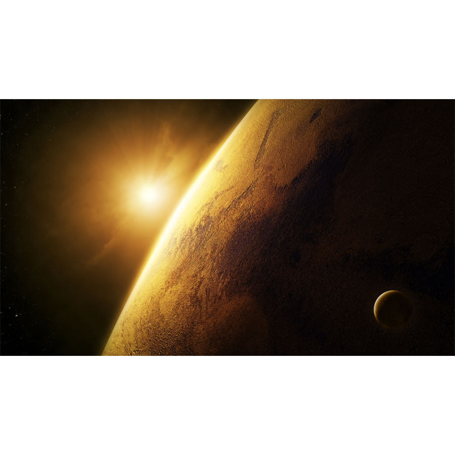 Planet Mars Close-up with Sunrise Wall Mural