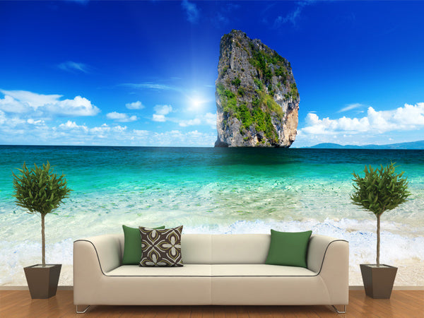 Poda Island and Tropical Fish Wall Mural
