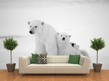 Load image into Gallery viewer, Polar Bear with Cubs Wall Mural