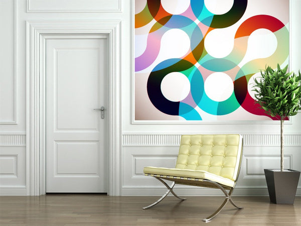 Rainbow Circles Wall Mural