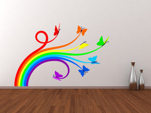Rainbow Butterflies Wall Decal