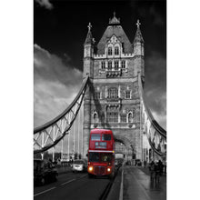 Load image into Gallery viewer, Red London bus on Tower Bridge Wall Mural