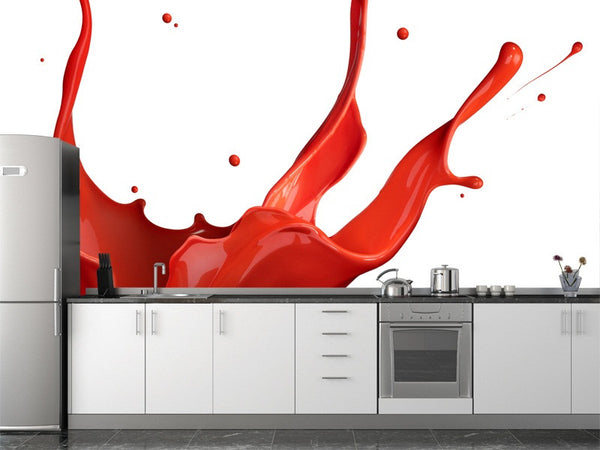 Red Paint Splash Wall Mural
