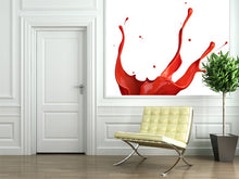 Load image into Gallery viewer, Red Paint Splash Wall Mural