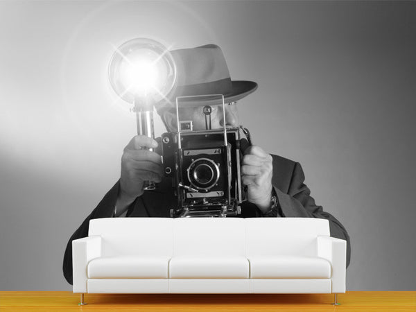 Retro Photographer Wall Mural