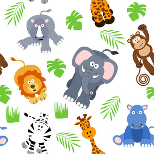 Safari Animal Background Wall Mural