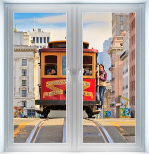 San Francisco Cable Car Instant Window