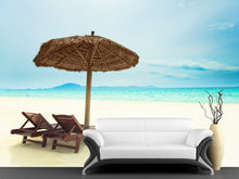 Load image into Gallery viewer, Sandy Tropical Beach Wall Mural